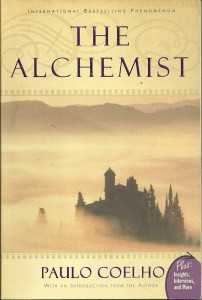 Bestselling fiction - The Alchemist - front cover author = Coelho