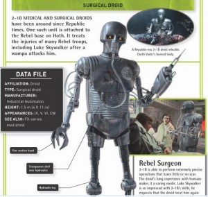 """2-1B"" rebel surgeon robot or droid from Star Wars film"